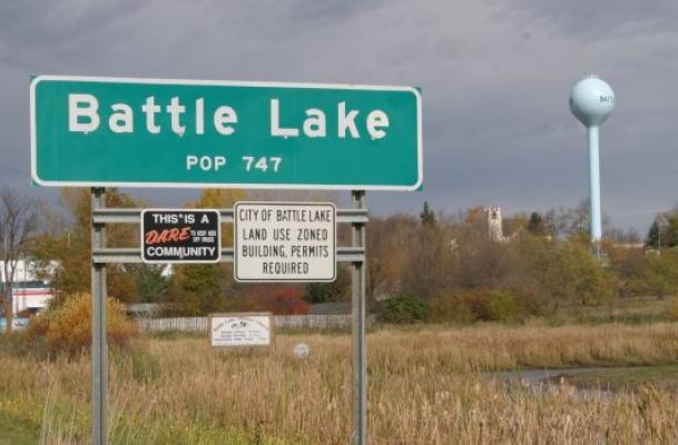 Battle Lake Population Sign